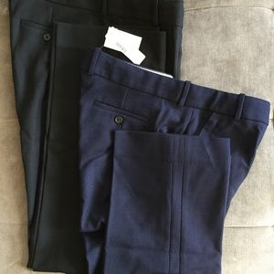 J.Crew Campbell Blue Black Pants Wool Size 14 Tall